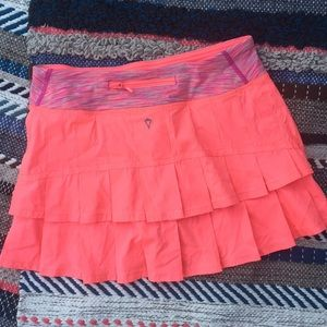 Ivivva Pleated Skirt Bright Pink Girls 14